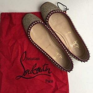 ✨AUTHENTIC✨ Christian Louboutin Glittered Flat