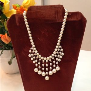 Faux pearl vintage necklace