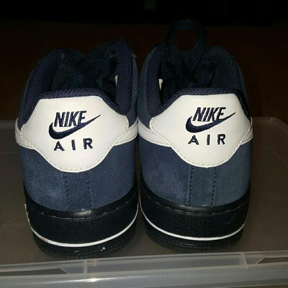 Nike Air Force 1 De La Marina Botines De Cuero Azul WmHEf