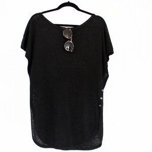 Club Monaco Sweaters - Club Monaco • Black Short Sleeve Sweater