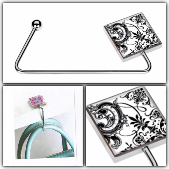 Glam Accessories - Black/white handbag holder 👜
