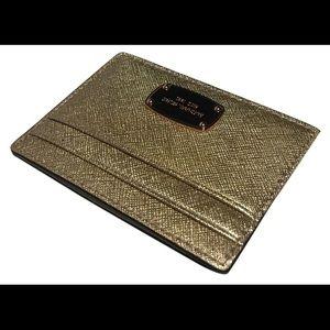 MICHAEL KORS Jet Set Travel Card Case Rose Gold