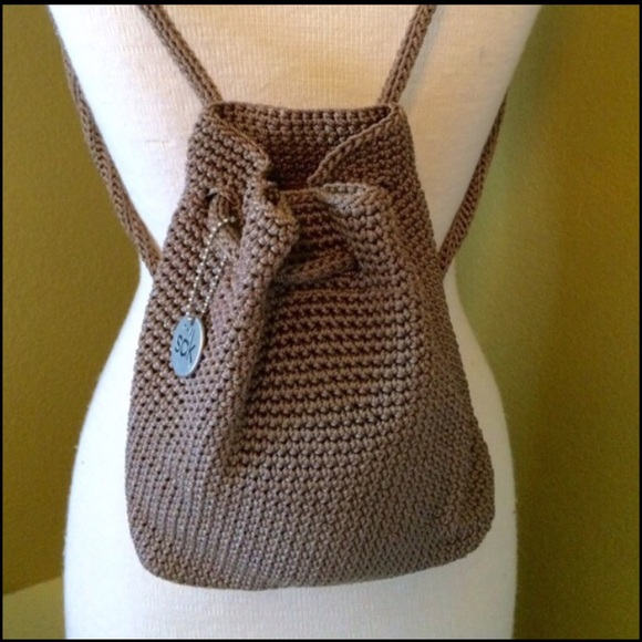 64% off The Sak Handbags - The Sak mini crochet backpack purse ...