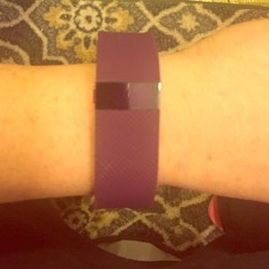 Fitbit Charge HR used small plum