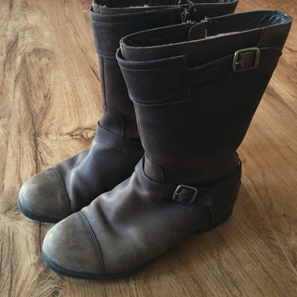 766c53d50a4 Ugg Gershwin Leather Buckled Boots - cheap watches mgc-gas.com