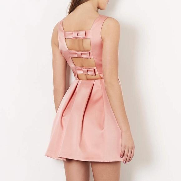 Topshop Dresses | Duchess Satin Bow Back Prom Dress | Poshmark