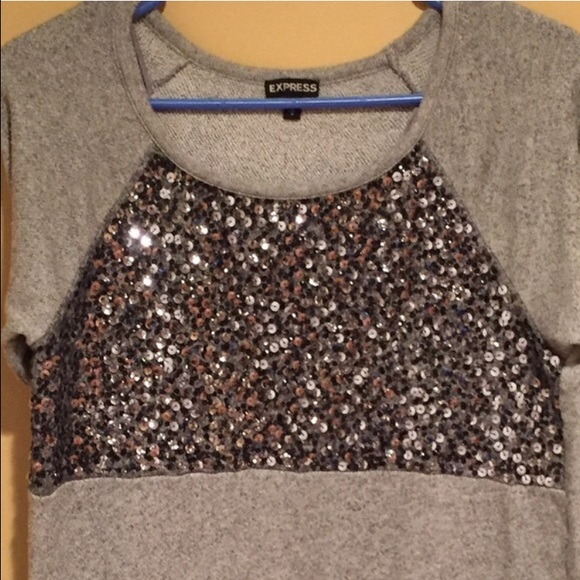 68% off Express Tops - Express sequin sweater medium from Katie's ...