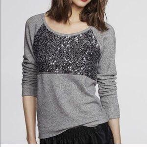 Express sequin sweater medium