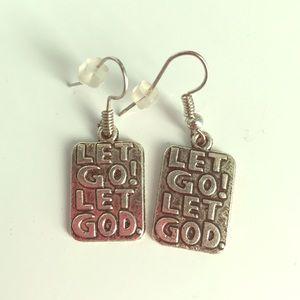Jewelry - Let Go! Let God. Earrings