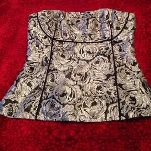 WHBM Stunning Black and Silver Corset