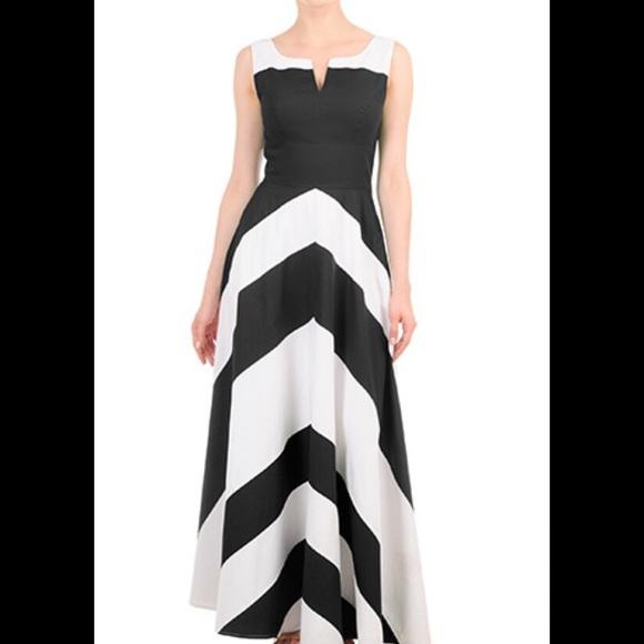 659d2a0d3965 eshakti Dresses | New Chevron Maxi Dress 22 Short | Poshmark