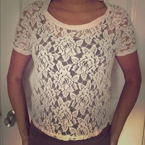 Express Lace Top XS