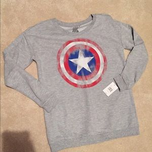 Mighty Fine Tops - NWT Last One! Captain America shirt