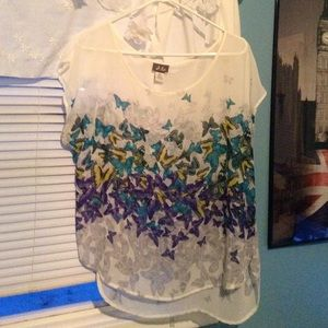 Dots Sheer Chiffon Butterfly Top
