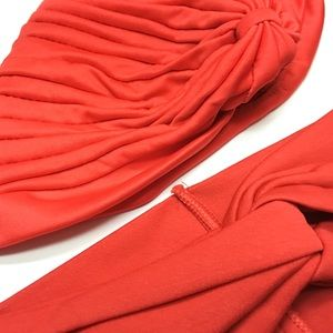 Pack Of 2: Fire Red Twist Hair Band And Turban