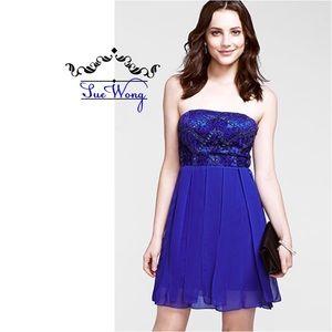 Sue Wong Dresses & Skirts - STUNNING✨SUE WONG BLUE BEADED DRESS ~ NWT