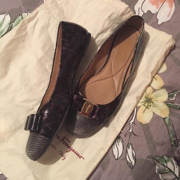 2fa76ff5a Salvatore Ferragamo Shoes   Ferragamo Varina Flats 75 D Wide Leopard ...