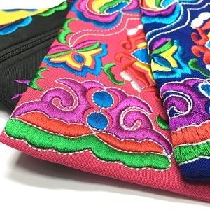 Pack Of 4: Festival  Embroidered Wristlets