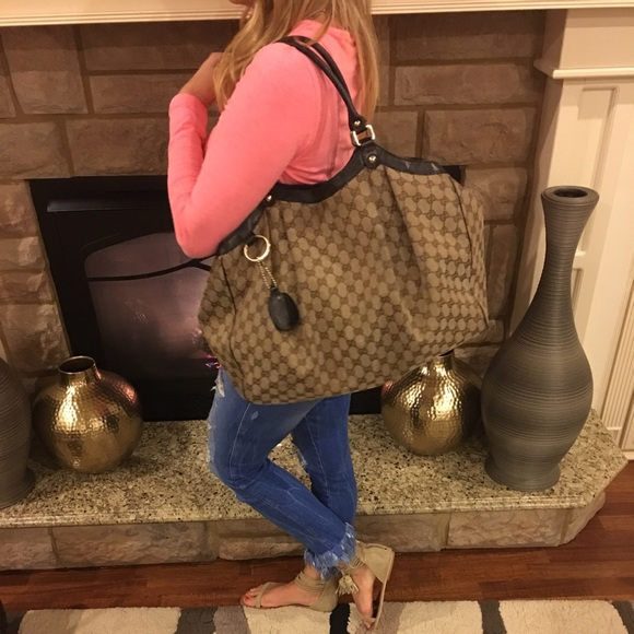 Gucci Handbags - 😀💎SOLD💎😀 GUCCI SUKEY XL LARGE HANDBAG TOTE