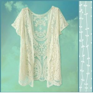 THE AURORA CO. Ivory Tower lace shrug