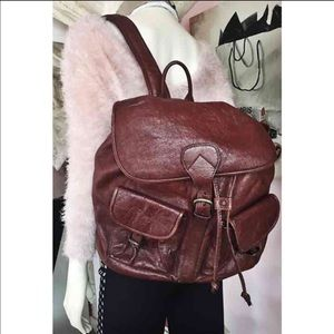 Genuine Leather Vintage Brown Backpack