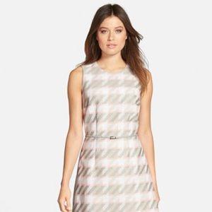 Hugo Boss Dresses & Skirts - Diemoni' Belted Houndstooth Tweed A-Line Dress
