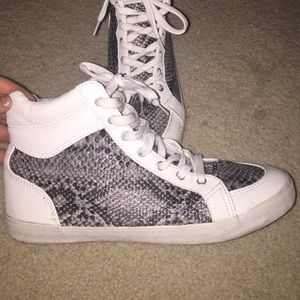 H&M Divided Brand Snakeskin Hightop Sneakers
