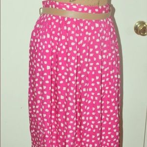 Plus size Aline Pink skirt with pockets size 2x