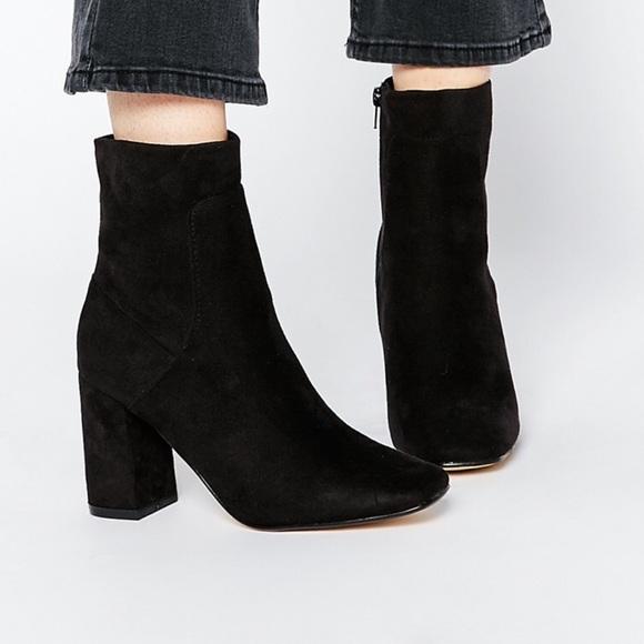 Zara Shoes | Zara Black Suede Boots