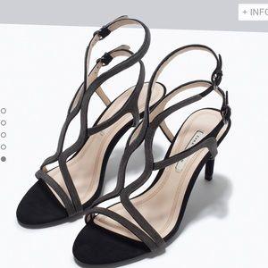 Zara sandal heels size 8 or 39 euro, new