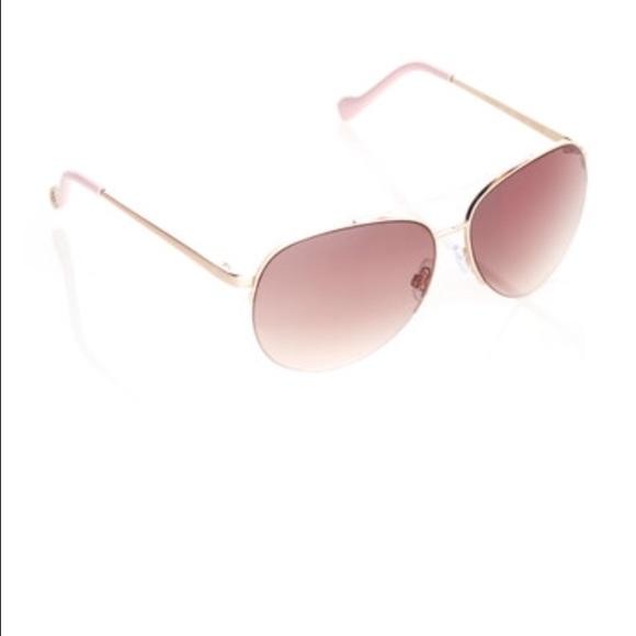 1d6d77cbb7 Jessica Simpson Accessories - Jessica Simpson rose gold pink aviator  sunglasses