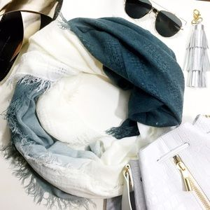 LOFT Accessories - Gray Dip Dyed Scarf