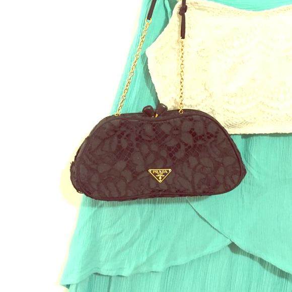 074072e8115ed0 Prada Bags | Vintage Black Crochet Mini Evening Purse | Poshmark