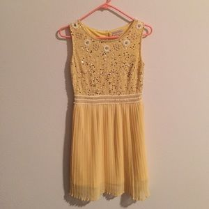 ASOS Dresses & Skirts - Frock and Frill yellow dress with sequin bodice