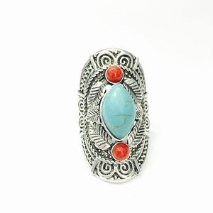 1 Pc. Festival- Ready Oval Turquoise Ring