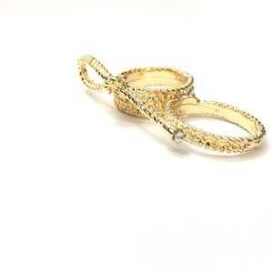 1 Pc. Gold Plated BowKnot Ring