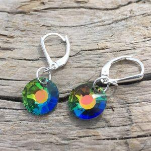 Jewelry - Handcrafted earrings made Swarovski crystal #178