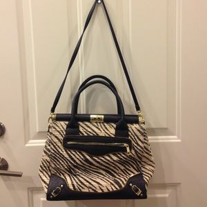 Olivia + joy New York Tote Black and White