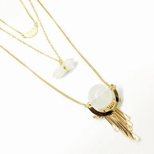 1 Pc. Three Layer Crystal Orb Necklace