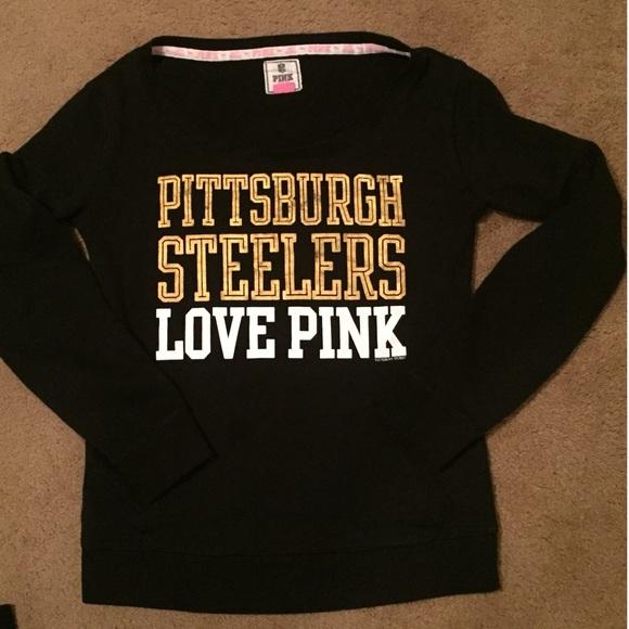 VS Pink Pittsburgh Steelers Crew SZ M. M 5709f6375c12f824de04098f a9c31f924