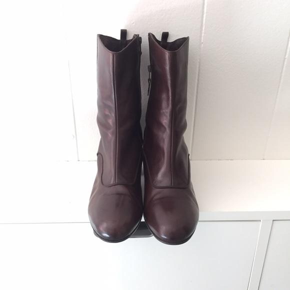 3678da3d5bc087 Dries van Noten Shoes - Dries Van Noten Boots with Patent Leather Heels