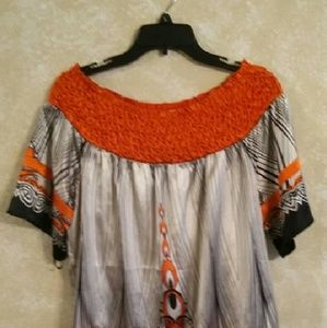Tops - Black & Orange Tunic