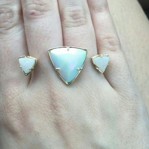 Kendra Scott Iridescent Drusy ring