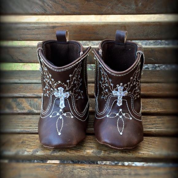 b685458b218 Baby Bling Rhinestone Cowboy Boots Cross corral NWT