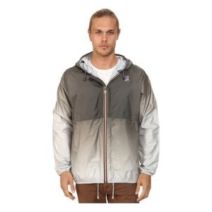 K-Way Jackets & Blazers - WOMENS Gray Claude Waterproof Faded Ombre Jacket