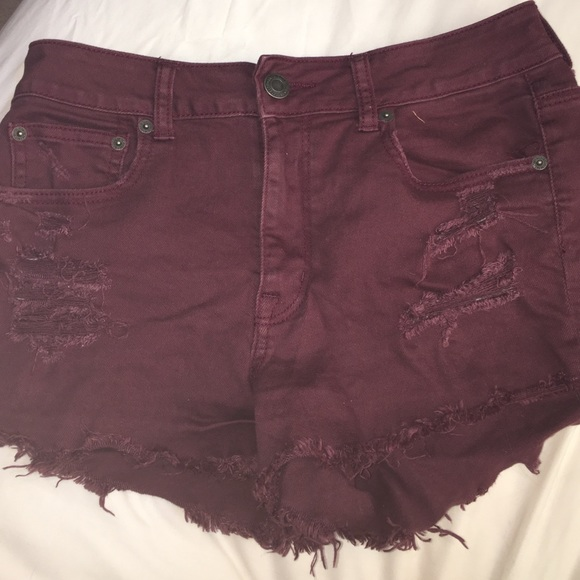 44% off American Eagle Outfitters Pants - American Eagle Maroon ...