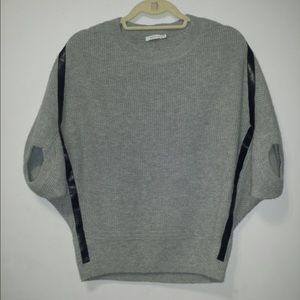 Hp🎉 Batwing sweater with faux leather trim