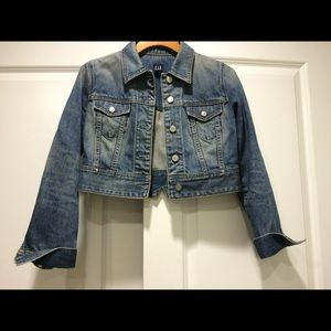 Gap Cropped Denim Jacket, size XS