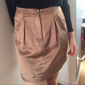 Doo.Ri Dresses & Skirts - Doo.ri Silk Gold Pencil Skirt