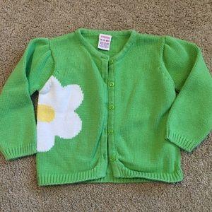 59ef2eded524 ... Sweater Dress Gymboree 18-24 Months Green Daisy Cardigan